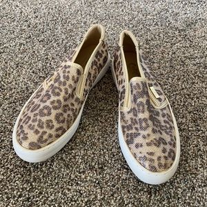 NEW - G by Guess Sparkly Leopard Flats
